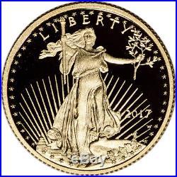 2017-W American Gold Eagle Proof (1/4 oz) $10 PCGS PR70 DCAM First Strike