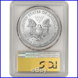 2017-W American Silver Eagle Burnished PCGS SP70 First Day Issue Gold Foil
