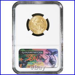 2018 $10 American Gold Eagle 1/4 oz. NGC MS70 Blue ER Label