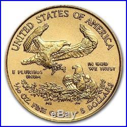 2018 1/10 oz Gold American Eagle $5 Coin Brilliant Uncirculated