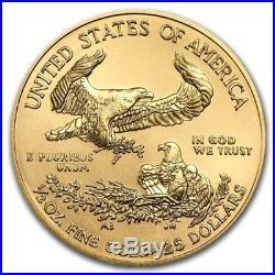 2018 1/2 oz Gold American Eagle $25 Coin Brilliant Uncirculated