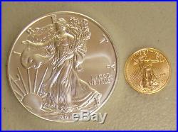 2018 1 oz American Silver Eagle & 2018 1/10 oz American Gold Eagle Bullion Coins