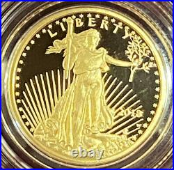 2018-W American Eagle One-Tenth Ounce Gold $5 Proof Coin with COA in OGP