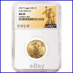 2019 $10 American Gold Eagle 1/4 oz. NGC MS69 ALS ER Label