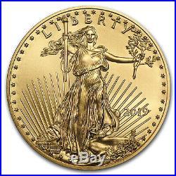 2019 1/2 oz Gold American Eagle BU SKU#171368