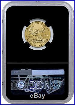2019 1/4 oz Gold American Eagle $10 NGC MS70 FDI Black Core SKU55942