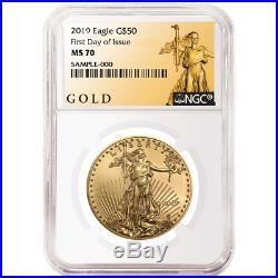 2019 $50 American Gold Eagle 1 oz. NGC MS70 FDI ALS Label