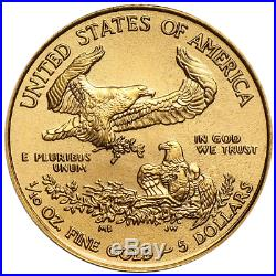 2019 $5 American Gold Eagle 1/10 oz Brilliant Uncirculated