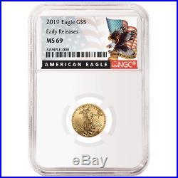 2019 $5 American Gold Eagle 1/10 oz. NGC MS69 Black ER Label