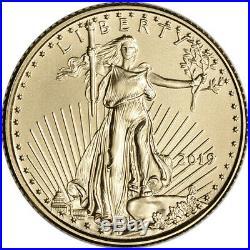 2019 American Gold Eagle 1/10 oz $5 NGC MS70 Bald Eagle Ribbon Label Black
