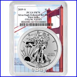 2019-S Enhanced Reverse Proof $1 Silver Eagle / COA # PCGS PR70 FS Golden Gate F