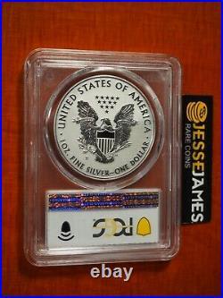 2019 S Enhanced Reverse Proof Silver Eagle Pcgs Pr70 Gold Shield Coa # 07806