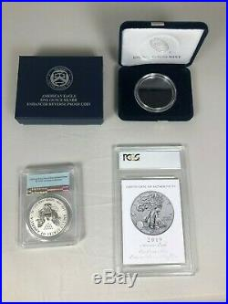2019-S Silver Eagle Dollar Enhanced Reverse Proof PR69 PCGS FS GOLD SHIELD 20173