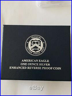 2019-S Silver Eagle Enhanced Reverse Proof PCGS PR70 1st Strike Real Gold Shield