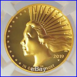 2019 W 1 oz $100 American Liberty High Relief Gold Coin NGC SP-70 EF ER+OGP