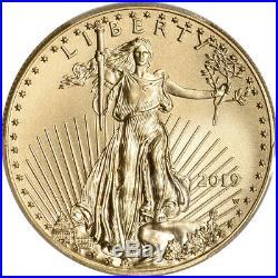2019-W American Gold Eagle Burnished 1 oz $50 PCGS SP70 First Strike Flag
