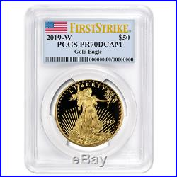 2019-W Proof $50 American Gold Eagle 1 oz. PCGS PR70DCAM First Strike Flag Label