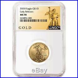 2020 $10 American Gold Eagle 1/4 oz. NGC MS70 ALS ER Label