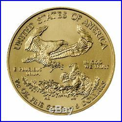 2020 1/10 oz Gold American Eagle $5 GEM BU PRESALE SKU59540