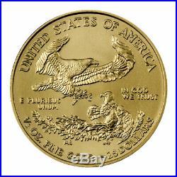 2020 1/2 oz Gold American Eagle $25 GEM BU SKU59567