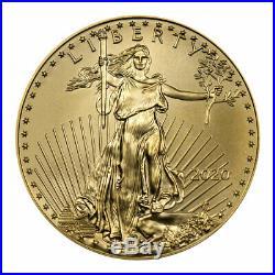 2020 1/4 oz Gold American Eagle $10 GEM BU SKU59557