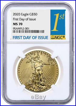2020 1 oz Gold American Eagle $50 NGC MS70 FDI SKU59588
