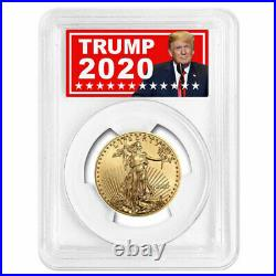 2020 $25 American Gold Eagle 1/2 oz. PCGS MS70 FS Trump 2020 Label