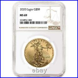 2020 $50 American Gold Eagle 1 oz. NGC MS69 Brown Label