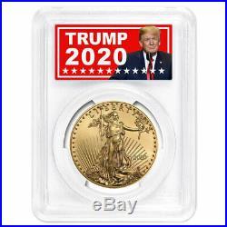 2020 $50 American Gold Eagle 1 oz. PCGS MS70 Trump 2020 Label