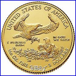 2020 American Gold Eagle 1/10 oz $5 Coin Brilliant Uncirculated