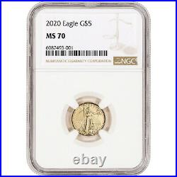 2020 American Gold Eagle 1/10 oz $5 NGC MS70