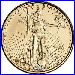 2020 American Gold Eagle 1/10 oz $5 PCGS MS70 First Strike