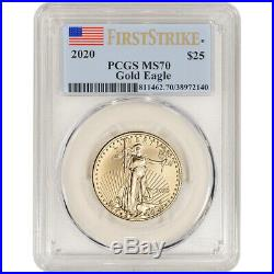 2020 American Gold Eagle 1/2 oz $25 PCGS MS70 First Strike