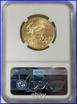 2020 Gold $25 American Eagle 1/2 Oz Coin Reagan Signed Legacy Ngc Ms 70 Fdoi