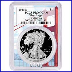 2020-S Proof $1 American Silver Eagle PCGS PR70DCAM FS Golden Gate Frame