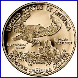 2020 W 1/2 oz Gold American Eagle Proof $25 Coin GEM Proof OGP SKU60836
