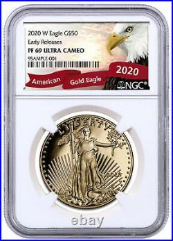 2020 W 1 oz Gold American Eagle Proof $50 NGC PF69 UC ER Eagle SKU60844