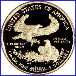 2020 W American Gold Eagle Proof 1/10 oz $5 in OGP