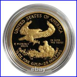 2020-W Proof $25 American Gold Eagle 1/2 oz. Box, OGP & COA