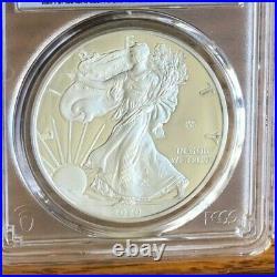 2020 W Silver American Eagle V75 Privy End Ww2 Anniv Fs Pcgs Pr69 Dcam Gold Shld