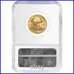 2021 $10 Type 1 American Gold Eagle 1/4 oz. NGC MS70 Trump Label
