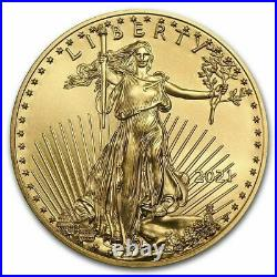 2021 1/10 Oz $5 Gold American Eagle Coin Uncirculated Type 2 In Stock