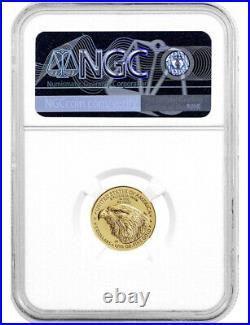 2021 1/10 Oz Gold American Eagle Type 2 FDOI NGC MS70 NR