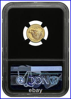2021 1/10 oz Gold American Eagle Type 2 $5 NGC MS70 FR BC Excl Gold Foil Core