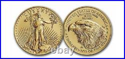 2021 1/10 oz Type 2 $5 Gold American Eagle NGC MS 70 First Day of Issue FDOI T-2