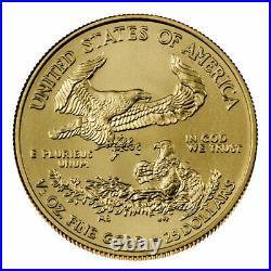 2021 1/2 oz Gold American Eagle T-1 $25 GEM BU