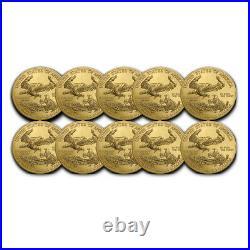 2021 1 oz American Gold Eagle BU (Lot of 10)