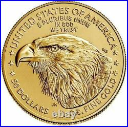 2021 1 oz Gold American Eagle $50 Coin Brilliant Uncirculated Type 2 IN STOCK