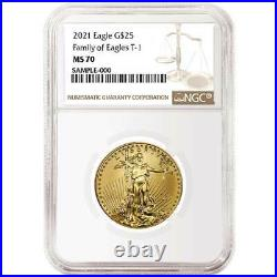 2021 $25 American Gold Eagle 1/2 oz. NGC MS70 Brown Label