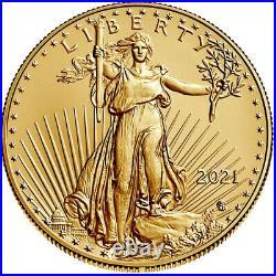 2021 $25 Type 2 American Gold Eagle 1/2 oz Brilliant Uncirculated